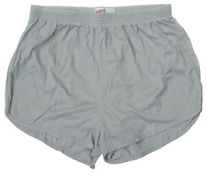 Soffe-Lt-Gray-Nylon-Ranger-Panties-Silkies-Running-Track-Shorts-Men-039-s-Small