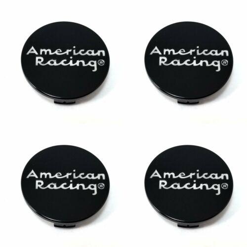 4x American Racing Gloss Black Style C Snap In Wheel Center Hub Caps
