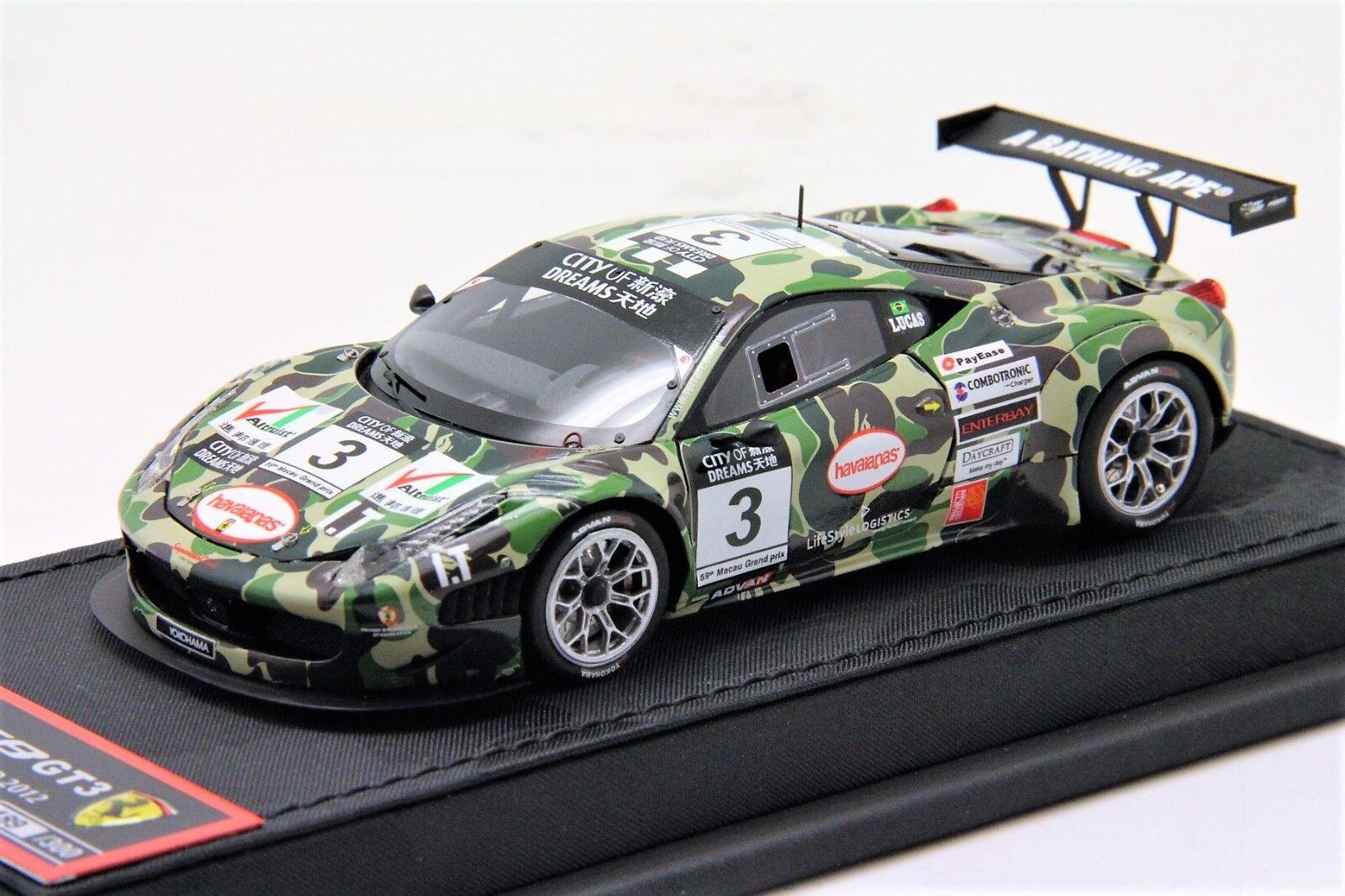 BBR Ferrari  GT3 base de diseño de camuflaje BATHING APE libre envíoMr AAPE