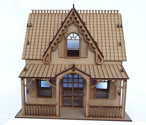 Details about wooden Dolls house 3d model puzzle Kit laser cut flat packed  diy project AS1