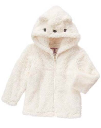 NWT Gymboree ENCHANTED WINTER Sz 2T 3T 4T 5T Polar Cub Hoodie NEW