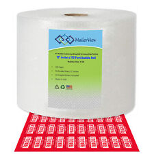 Air Bubble Cushioning Wrap Roll 12 Inch X 175 Feet Total Perforated Every 12