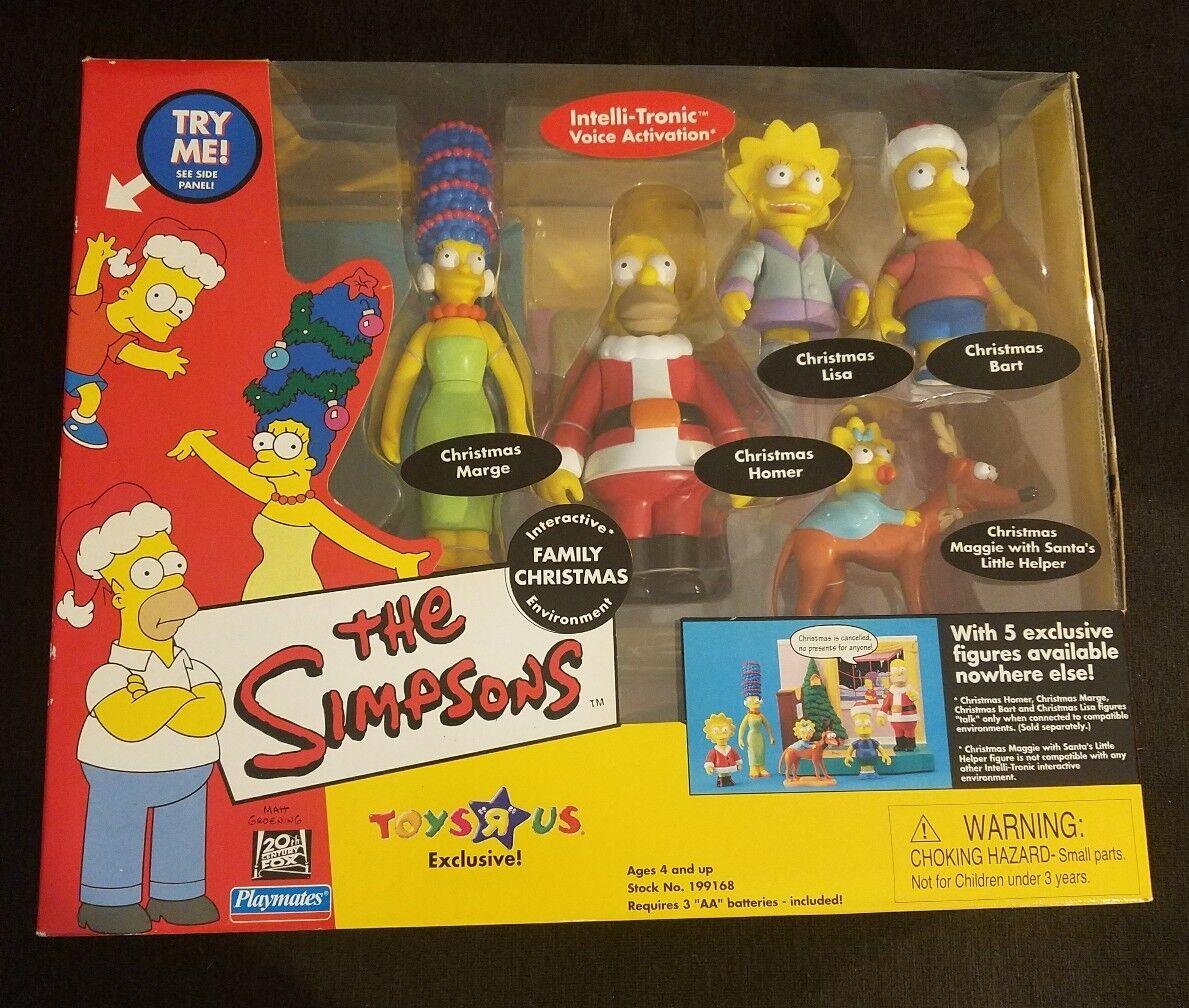 The Simpsons spelastat Family Christmas - Voice Aktived NIB Sällsynt 2001