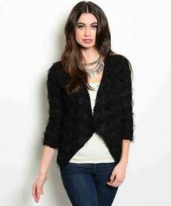 Chic White or Black Party Cardigan Sweater Shrug Coverup Jr USA, S, M or L