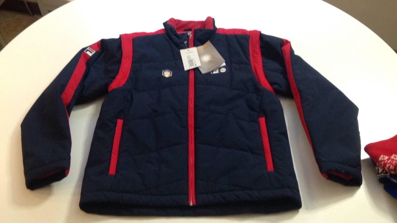 FILA nazionale italiana sci giacca con maniche staccabili.per uomo Tg L