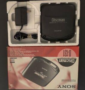 Vintage Sony Discman D-131 CD Player. Original Box with 4.5 V Power Supply.