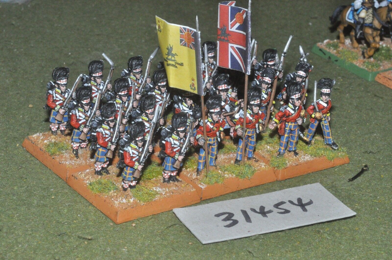 25mm napoleonic   british - highlanders 24 figures - inf (31454)