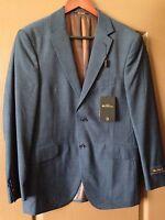 Mens Rare Ben Sherman Blue Sport Coat Blazer Jacket Business Suit 38r