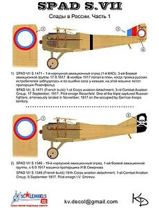KV Decals 1//72 SPAD S.VII Soviet Russian Air Force 1919-1921