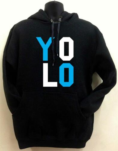 "New /""Yolo/"" High Quality Black Hoodie /""you only live once/"" MMA hip hop All size"