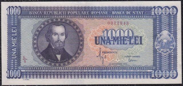 1000 Lei from Romania 1950 Unc