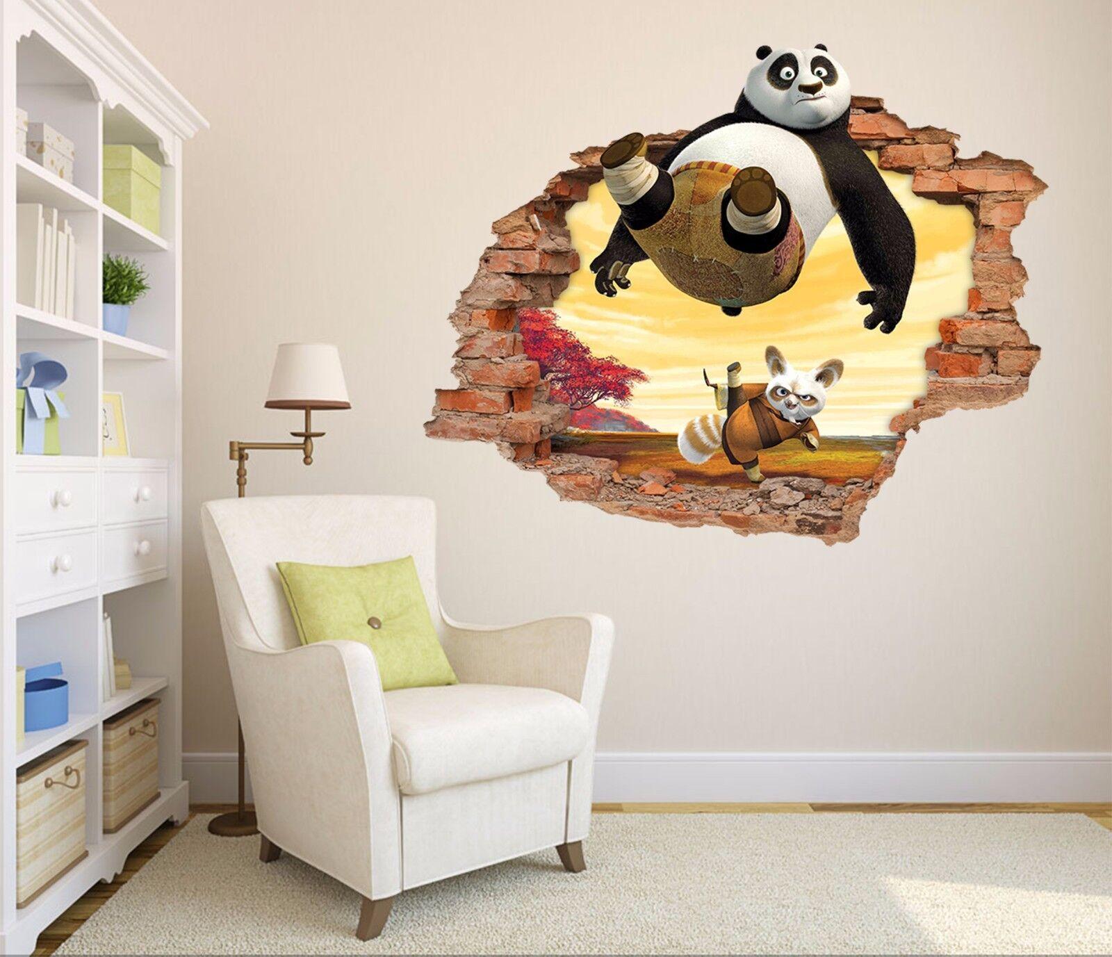 3D Pandamaster 722 Mauer Murals Mauer Aufklebe Decal Durchbruch AJ WALL DE Kyra