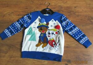 NWT-BOYS-BLUE-CHRISTMAS-JUMPER-AGE-2-3-YEARS