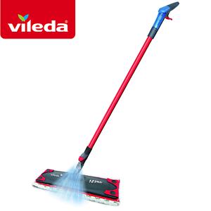 vileda 1 2 spray mop wood tiles laminate hard floor cleaning