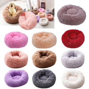 Pet-Dog-Cat-Calming-Bed-Warm-Soft-Plush-Round-Cute-Nest-Comfortable-Sleeping