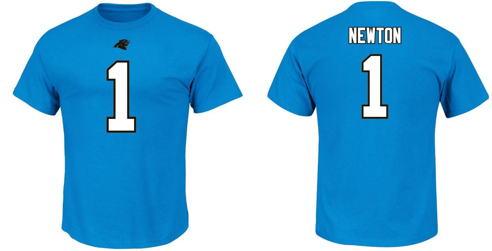 NFL T-shirt Carolina Panthers Cam Nuovoton 1 Teal er3 Receiver Maglia Jersey