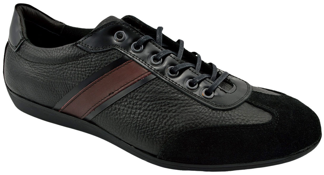 195 REACTOR nero Leather Suede Driving Casual scarpe da ginnastica Men scarpe