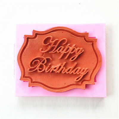 2015 Best Happy Birthday Silicone Mould Cake Decorating Lace Mat Baking Mold