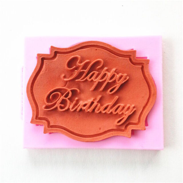 2015 Fashion Happy Birthday Silicone Mould Cake Decorating Chocolate Baking Mold