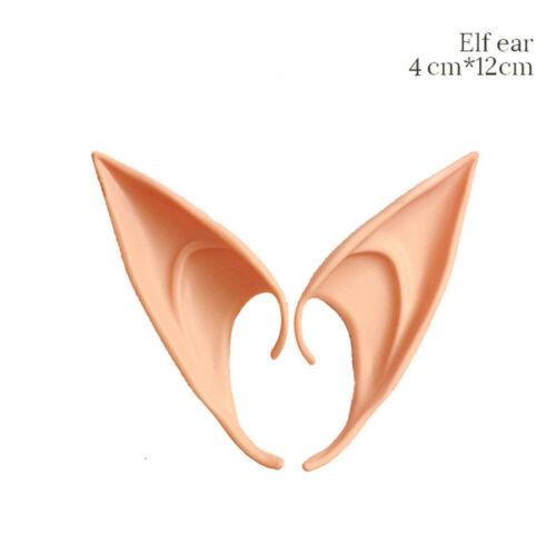 1//2 Pairs Latex Elf Ears Manga Anime Halloween Cosplay Ears Fairy Pixie Costume