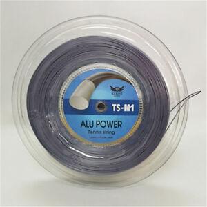 Tennis-string-GREY-reel-ALU-power-125mm-660ft-same-as-LUXILON