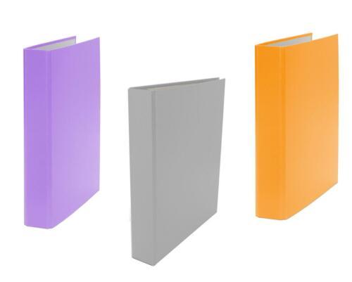 lila und orange 4-Ring Ordner je 1x grau 3x Ringbuch DIN A5 Farbe