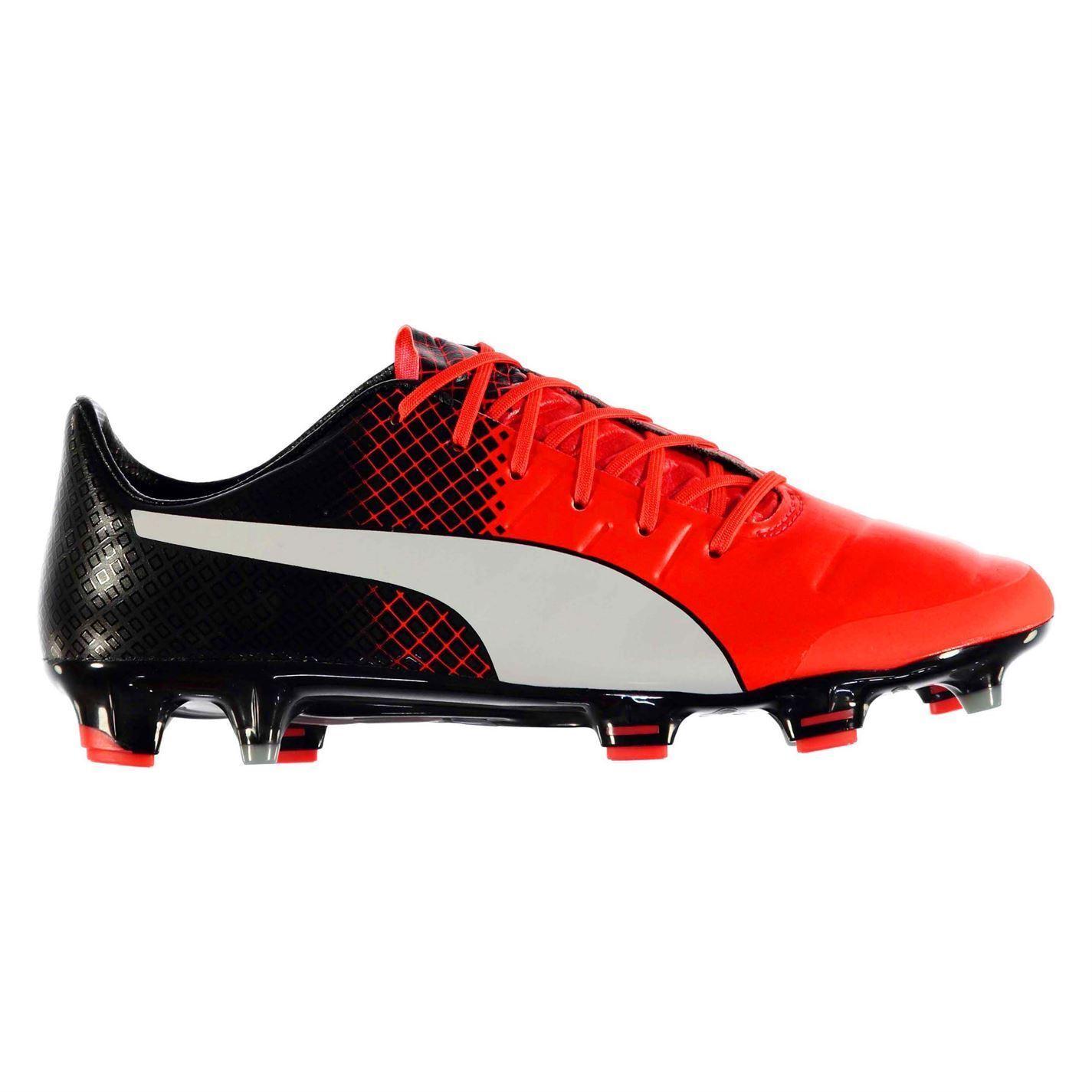 Puma EvoPower 1.3 FG Firm Ground Football Stiefel  Herren Rd/Blk Soccer Cleats Schuhes