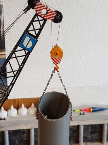 Kettengehänge 2 Ösenketten 8cm in 1:50 1:32 Modellbau