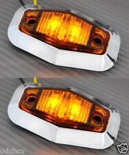 2 x 12V LED BERNSTEIN SEITE CHROM BEGRENZUNGSLEUCHTEN für LKW BUS MAN DAF IVECO