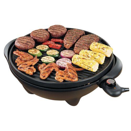 George Foreman GGR50B Indoor//Outdoor antiaderente Grill da Tavolo Senza Fumo superba!
