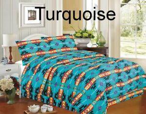 Image Is Loading Southwest Design Turquoise 4 Piece Comforter Set King