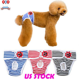 Puppy-Pet-Dog-Female-Cute-Sanitary-Pant-Short-Panties-Diaper-Underwear-Washable
