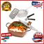 Juego-de-5-piezas-Utensilios-de-Cocina-Antiadherente-Sarten-profunda-de-Chef-Pan-cuadrado-cesta-Fry miniatura 1