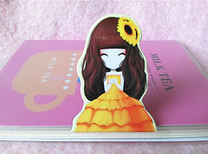 Cartoon Princess Magnetic Page Markers Kawaii A37