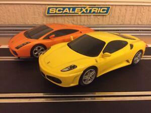Scalextric Digital Ferrari F430 Lamborghini Gallardo Excellent