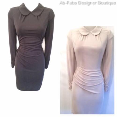 12 Karen Uk Cream Beige Stone New Dress 40 Collared Taglia Jersey Millen Modern Ladies dqqxWvPw