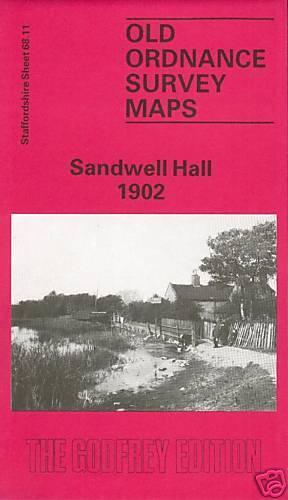 OLD ORDNANCE SURVEY MAP SANDWELL HALL 1902