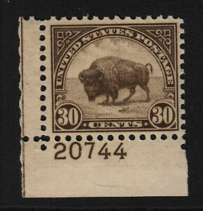 1931-American-Buffalo-MNH-Sc-700-RARE-plate-number-Hebert-CV-80