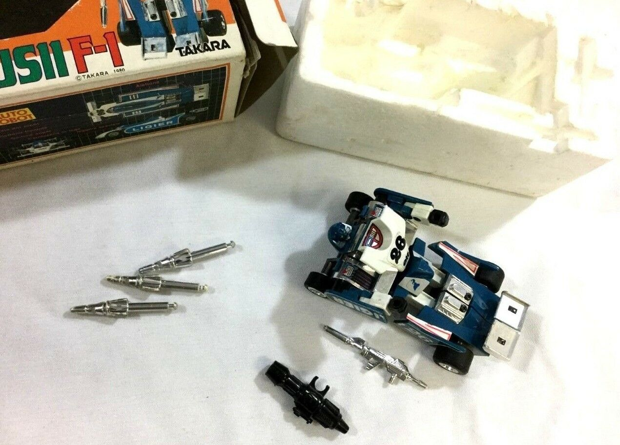 1980 Takara Transformers Transformers Transformers Diaclone Mirage Ligier JS11 Complete Weapons Boxed fcf000