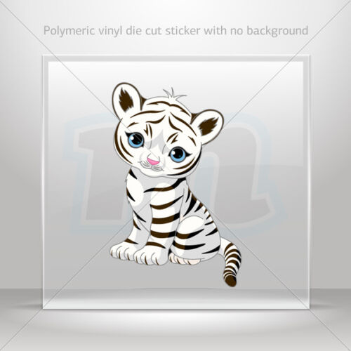 Stickers Decal Cute Little White Tiger Motorbike Bike Garage st5 X4675