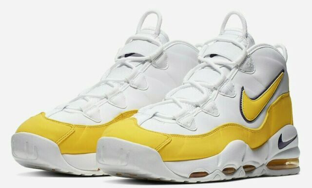 Nike Air Max Uptempo 95 CK0892 102 'Lakers' Court PurpleAmarillo sz 8 13
