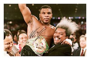 Mike Tyson Signed A4 Photo Print Autograph Boxing Heavyweight World Champion