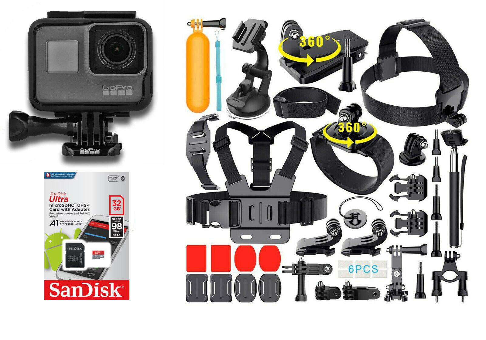 GoPro - HERO6 Black 4K Action Camera -  CHDHX-601 [40+] Sports Accessories accessories action black camera gopro hero6 sports