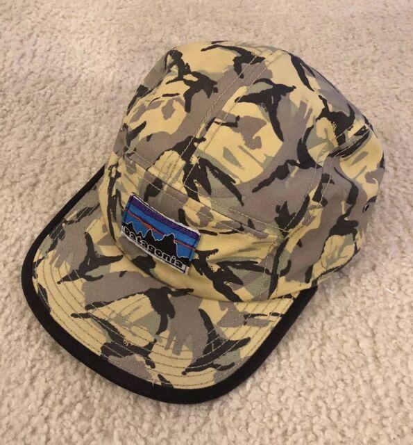 ed842583a78 Patagonia Retro Fitz Roy Label Tradesmith Cap Camo Adjustable 5 Panel Hat