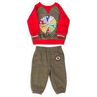 Infants Converse Pinwheel Charcoal Crew Neck Tracksuit (larger Sizes)