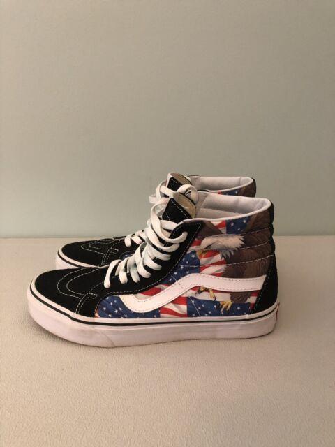 02c76597d1 Vans Free Bird Sk8 Hi Mens Shoes America USA Flag Eagle Skateboard Merica  July 4
