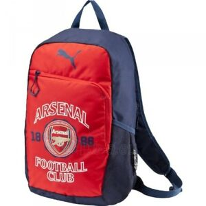 Image is loading PUMA-07335201-ARSENAL-CREST-BACKPACK-Red-Black-Polyester- 539b951376c73