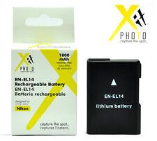Battery for Nikon D5300 D5200 D5100 D3300 D3200 D3100 Df / EN-EL14a