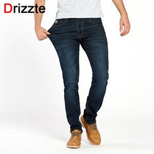 Drizzte Mens Jeans Stretch Jean Plus Size 28 to 46 Pants Slim Fit ...