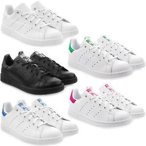 f65cda41461f21 Das Bild wird geladen ADIDAS-STAN-SMITH-J-Junior-Damen-Sneaker-Turnschuhe-